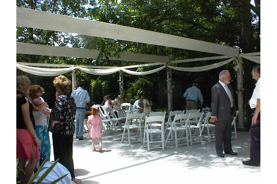 wedding on the patio